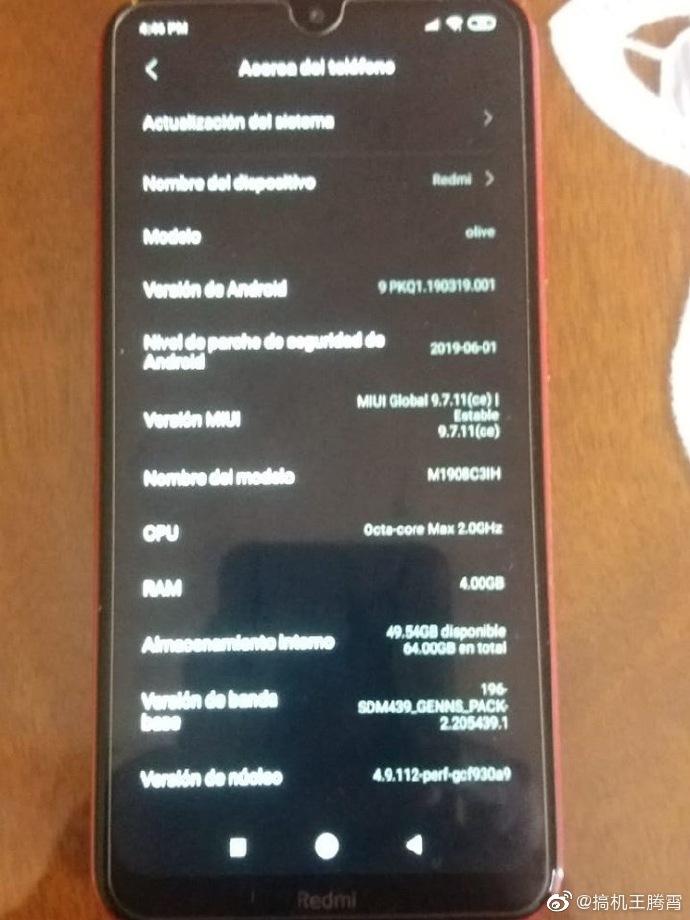 Redmi 8 Live Image