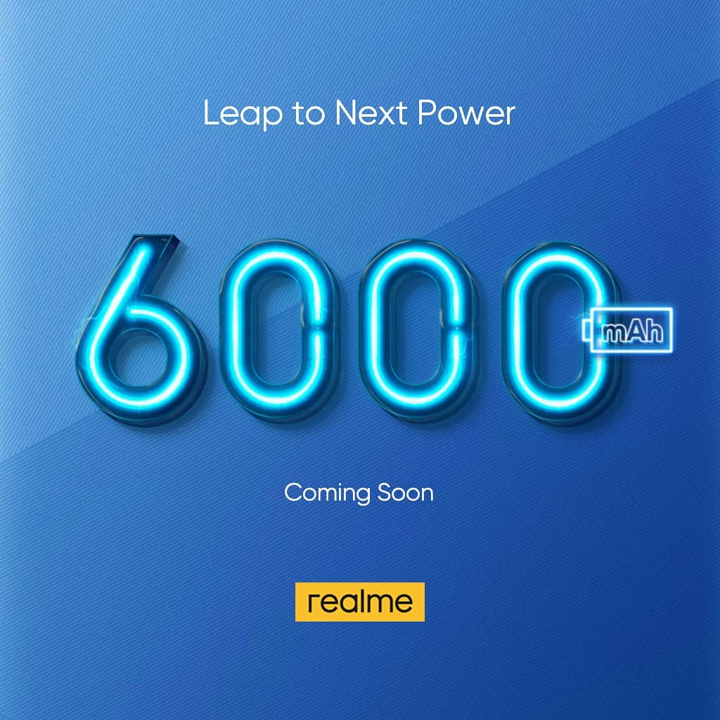 Realme 6000mAh battery smartphone