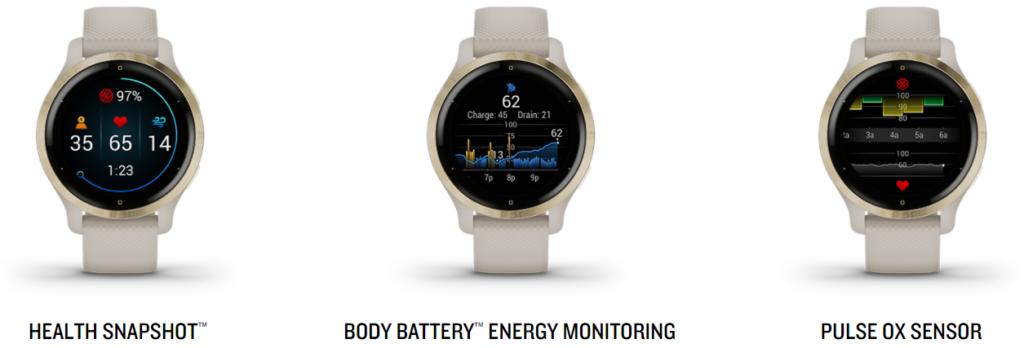 Garmin Venu 2S Health Monitoring Features