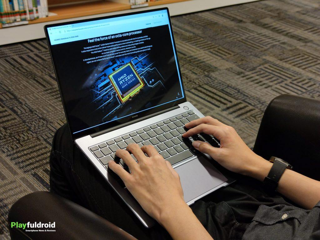 Huawei MateBook 14 2020 AMD Side Profile