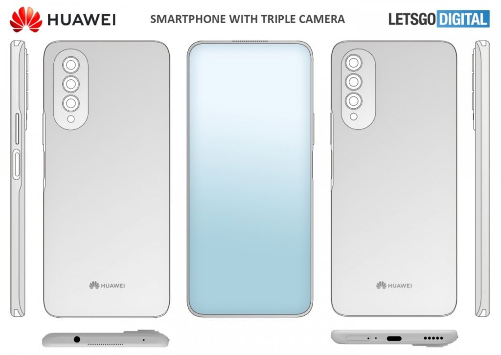 Huawei patent's phone with in-display camera