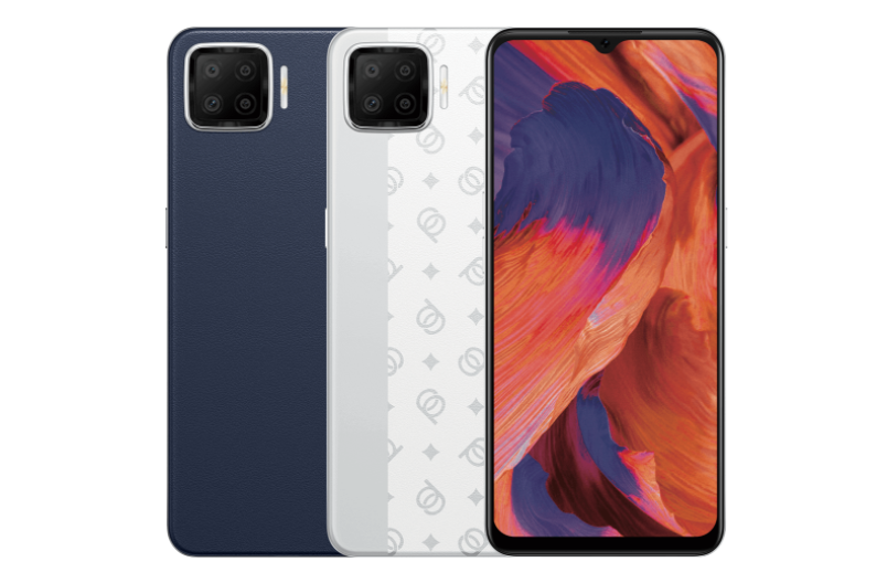 OPPO A73 in Navy Blue & Classic Silver