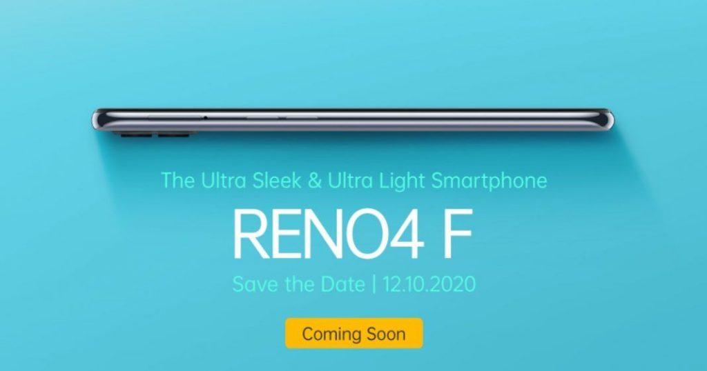 OPPO Reno4 F launch date