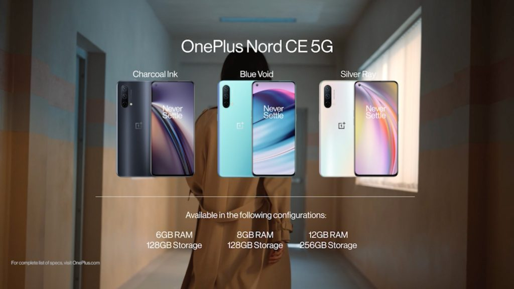 OnePlus Nord CE 5G Memory Options