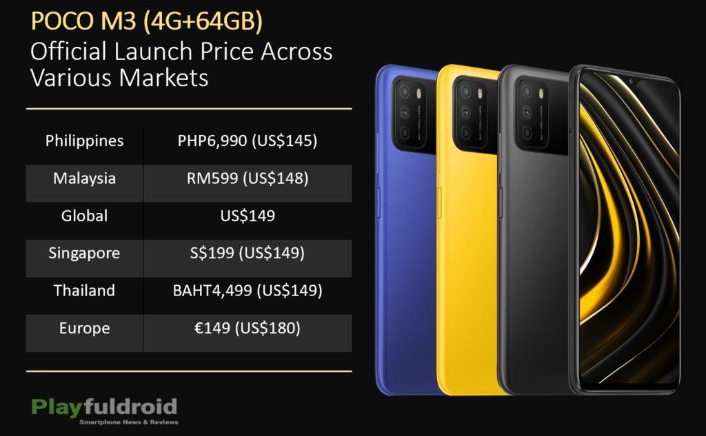 POCO M3 Launch Price