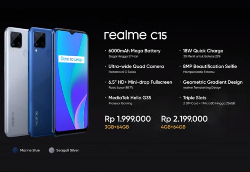 Realme C15 Pricing & Specs