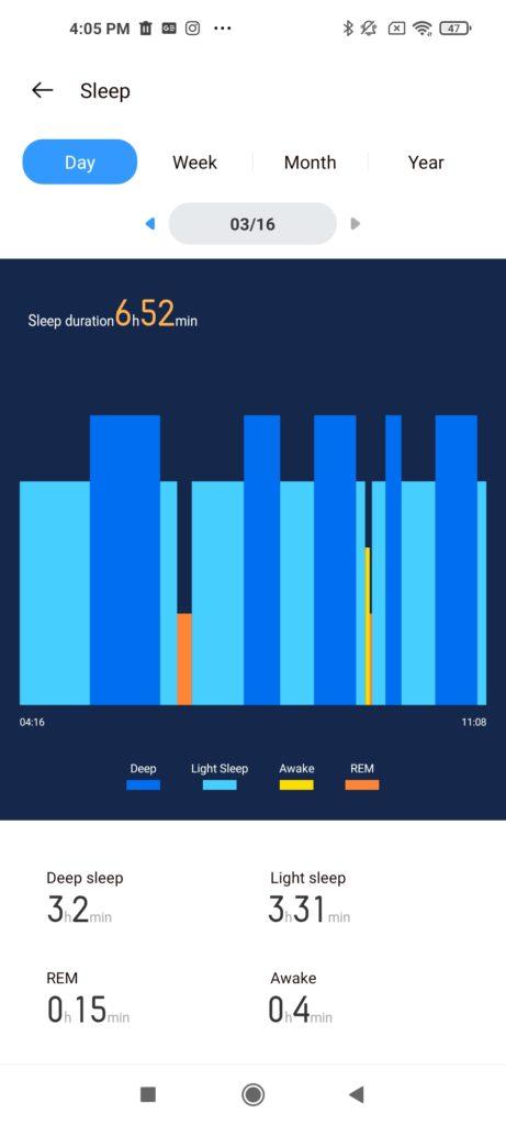 Realme Watch S Pro Sleep Record
