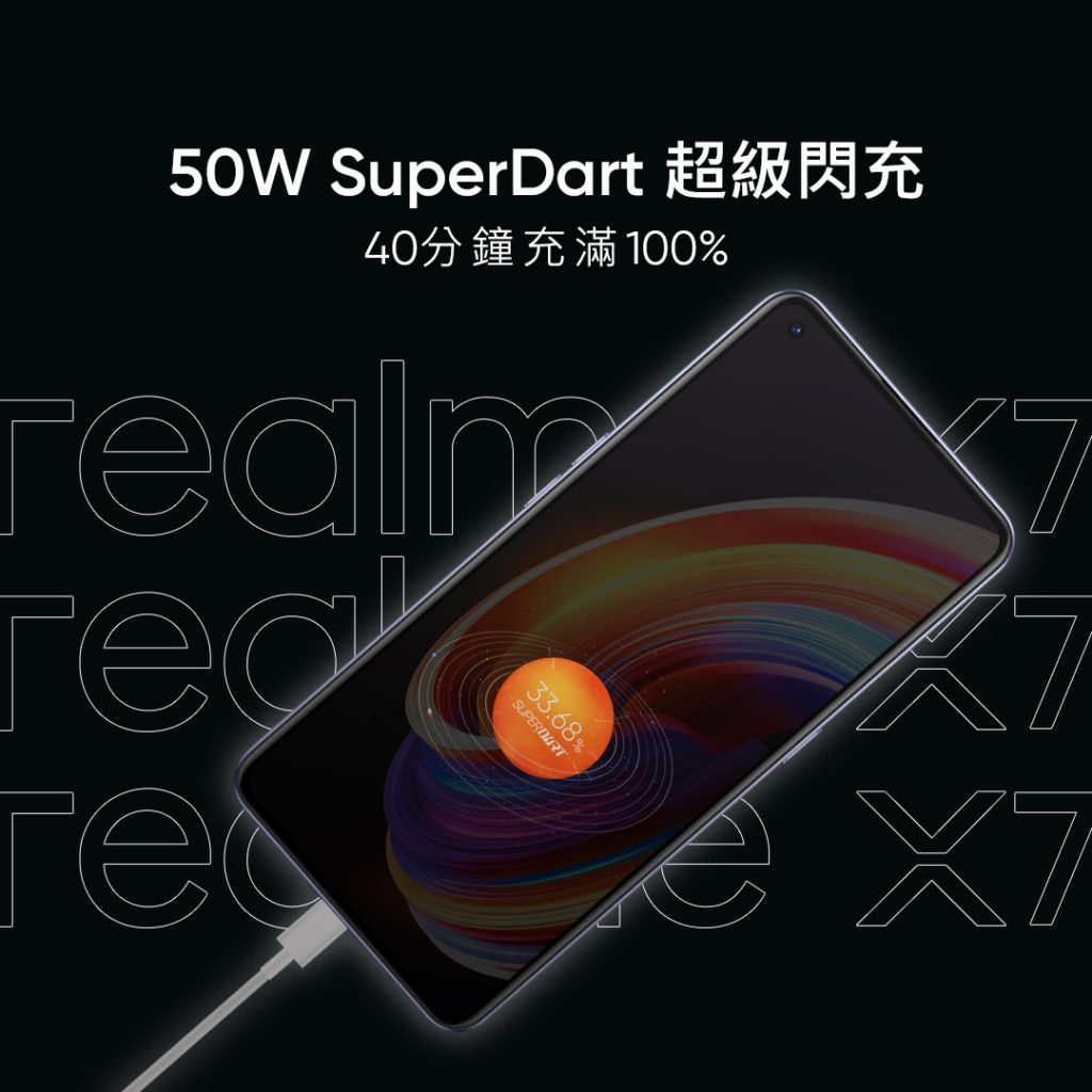 Realme X7 Pro 50W SuperDart Charging