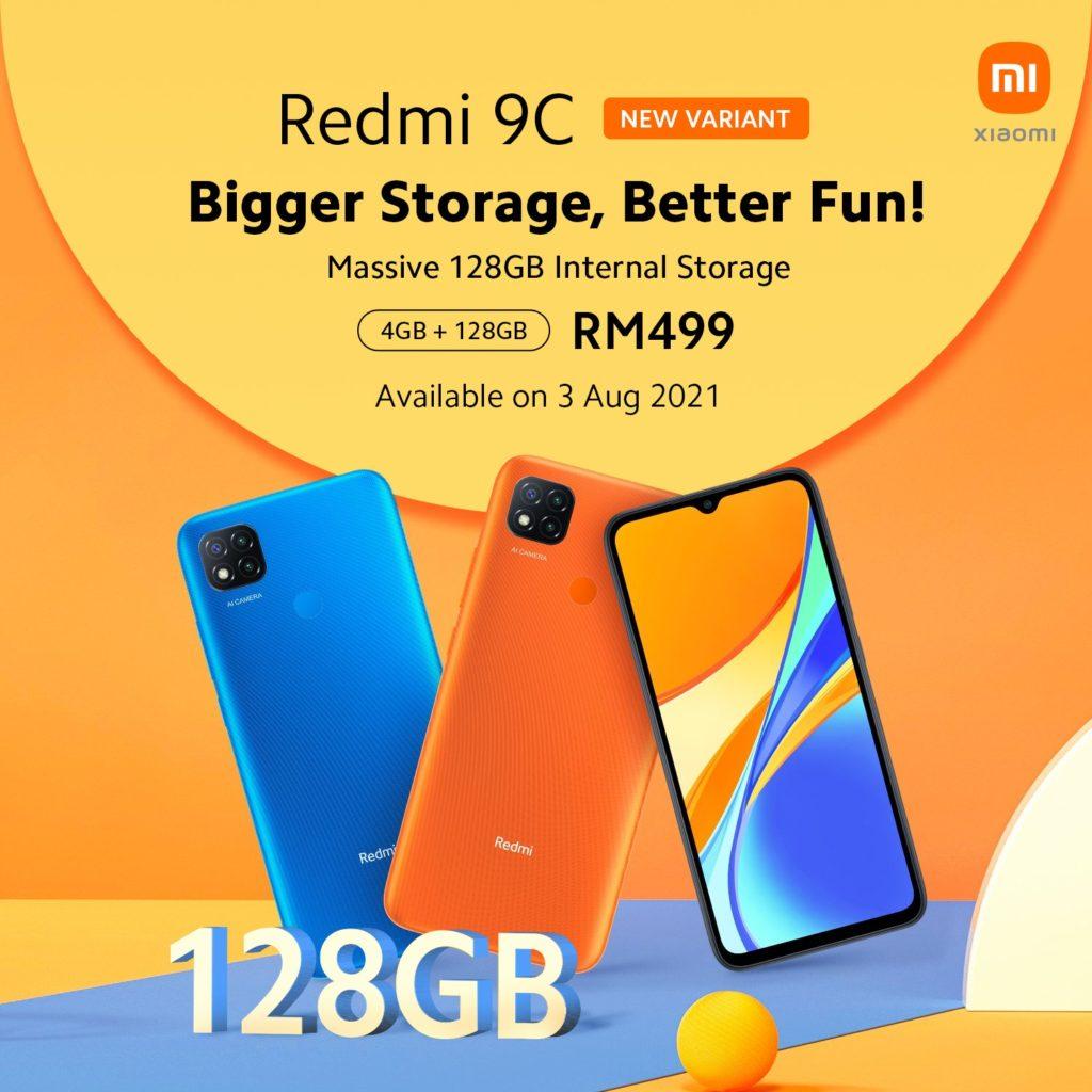Redmi 9C 4GB+128GB variant