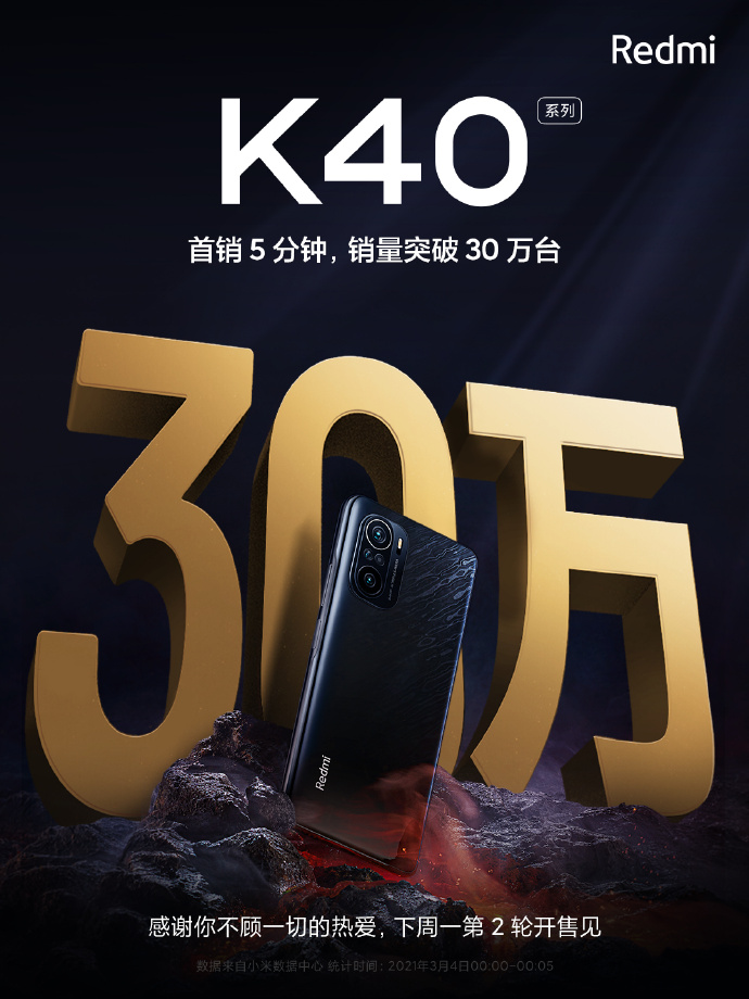 Redmi K40 series first sales