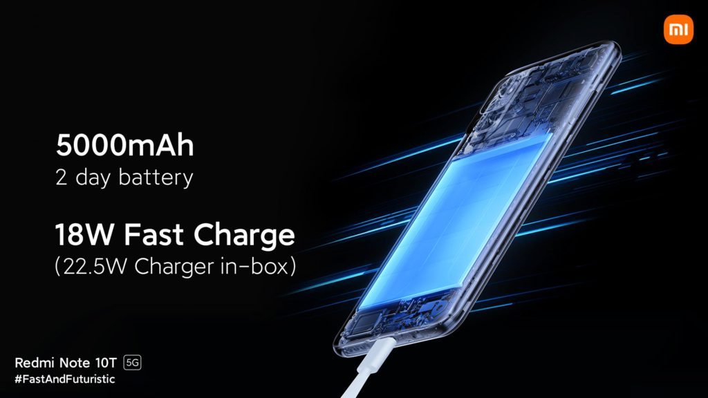Redmi Note 10T 5G Battery & Charging