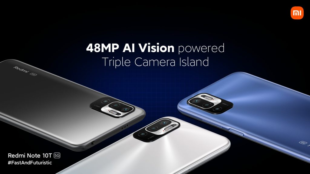 Redmi Note 10T 5G Camera Specs