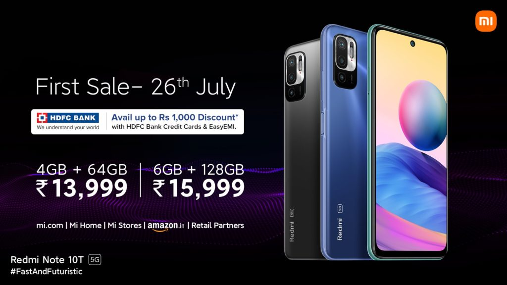 Redmi Note 10T 5G Pricing