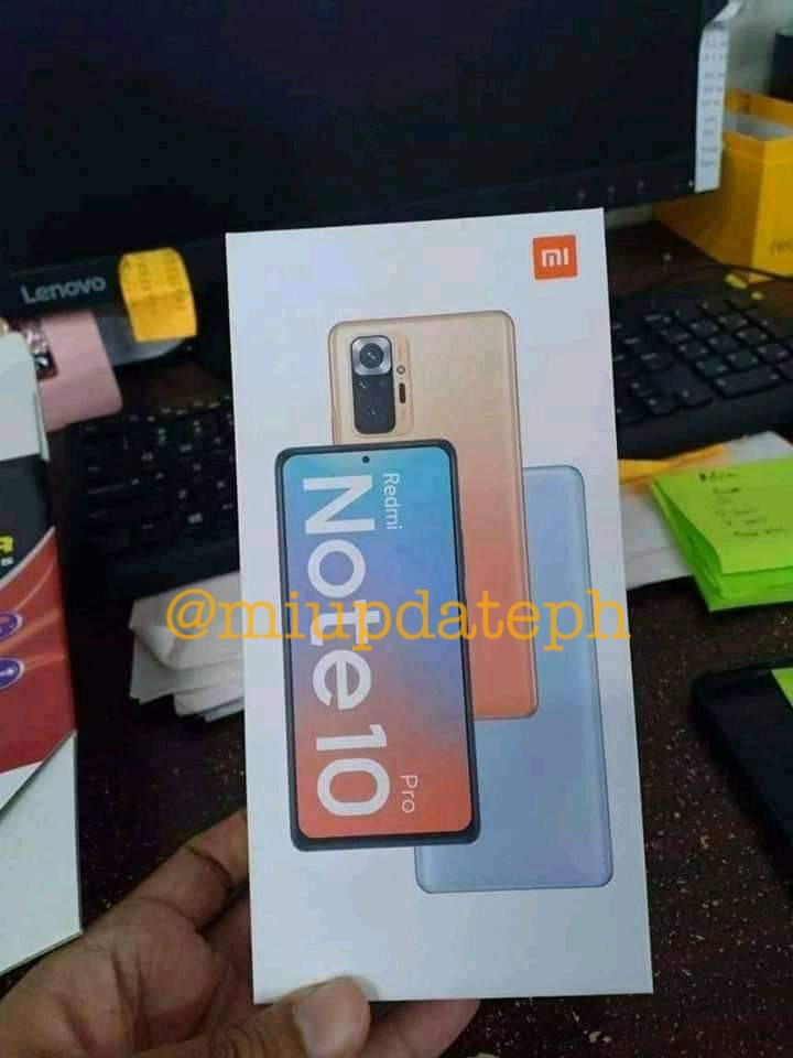Redmi Note10 Pro retail package leaked shot