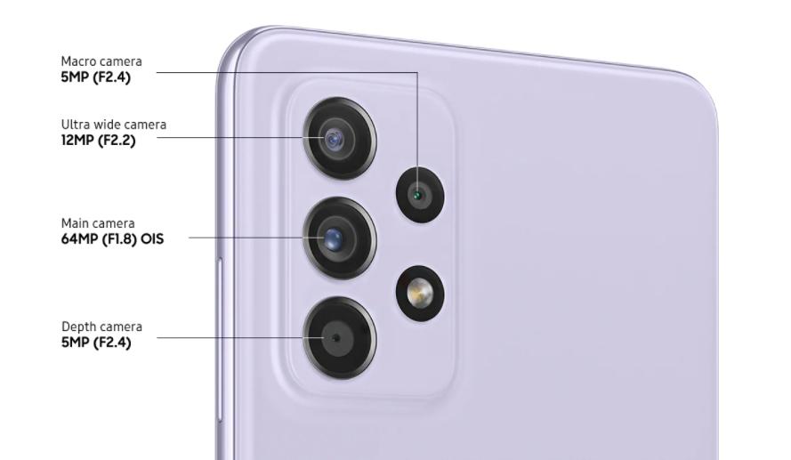 Samsung Galaxy A52s Camera Specs