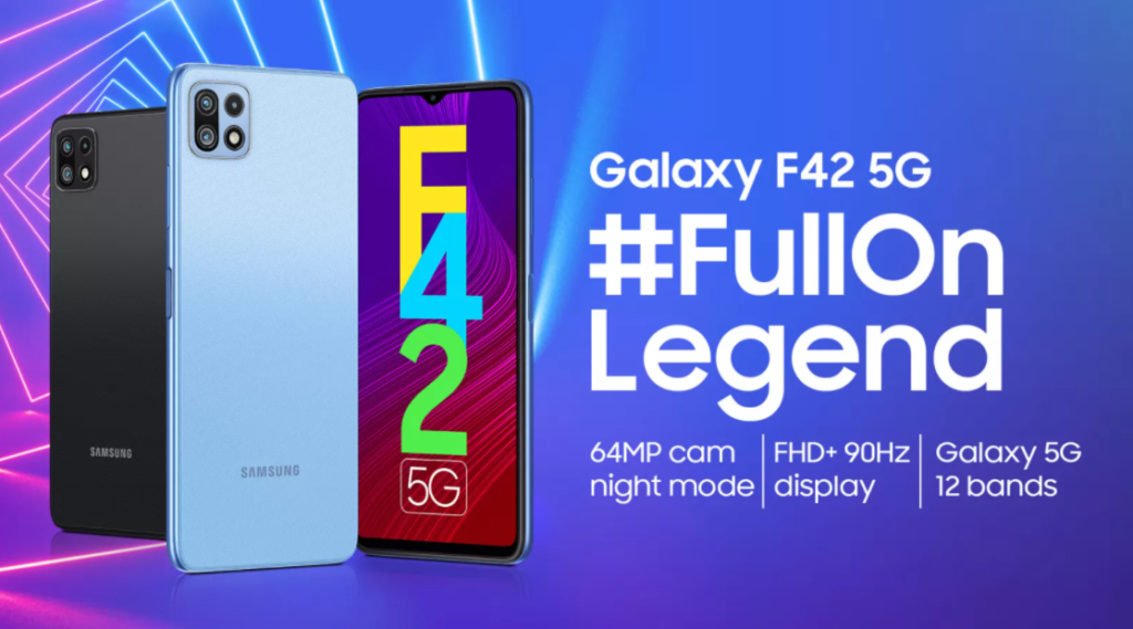Samsung Galaxy F42 5G Promo Poster