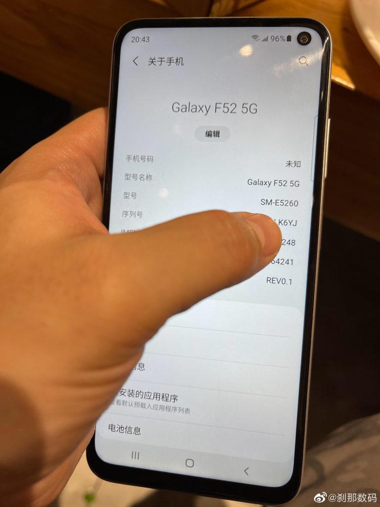 Samsung Galaxy F52 5G live shots