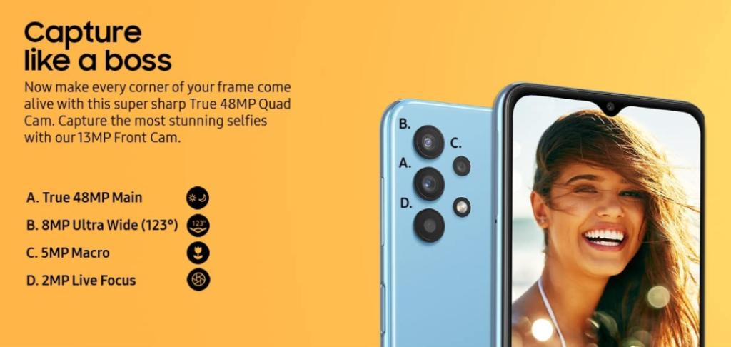 Samsung Galaxy M32 5G Camera Specs