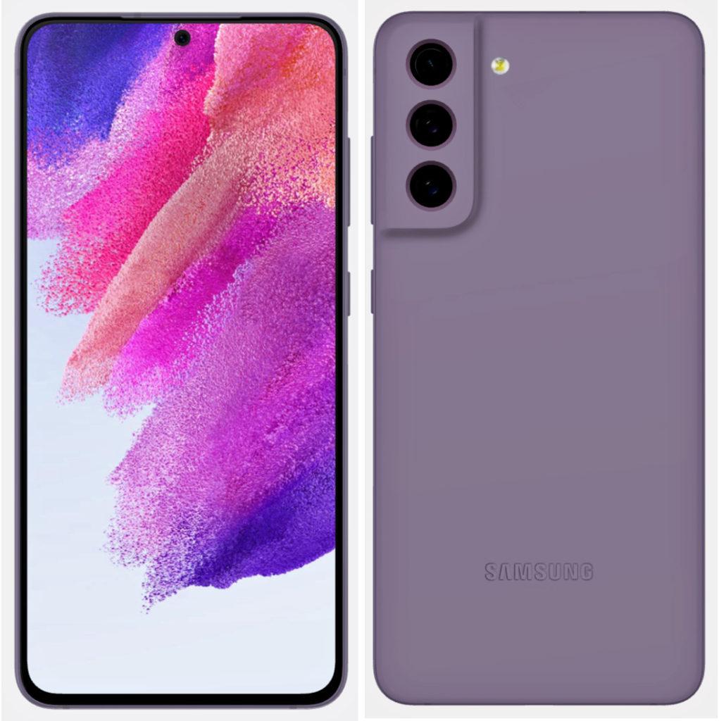 Samsung Galaxy S21 FE Lilac Render