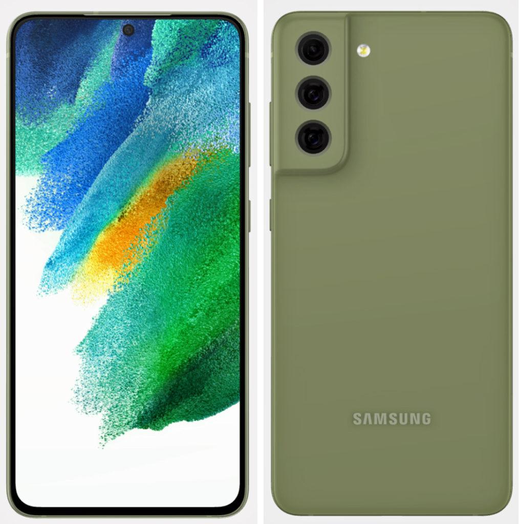 Samsung Galaxy S21 FE Olive Green Render