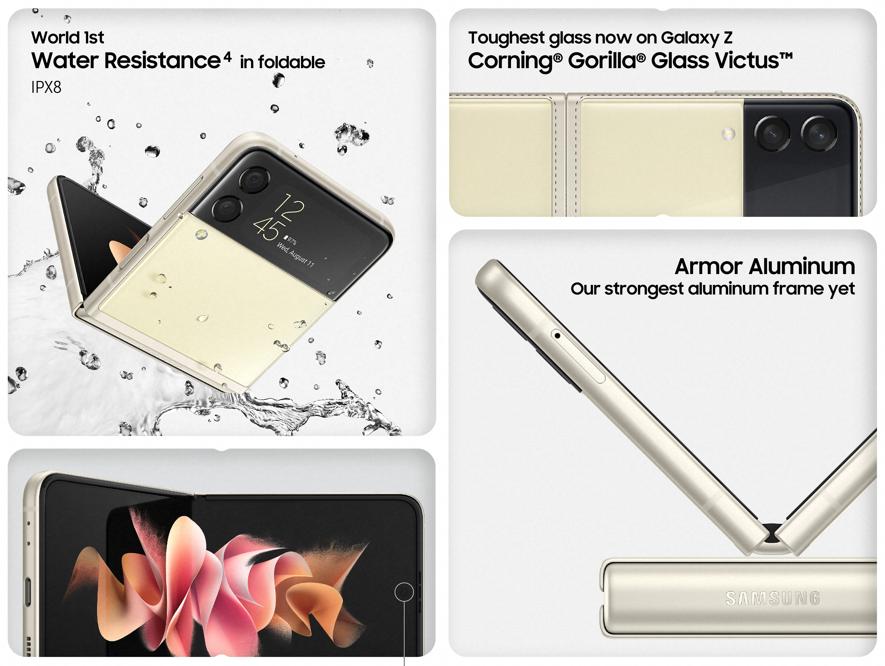 Samsung Galaxy Z Flip3 Durability Specs
