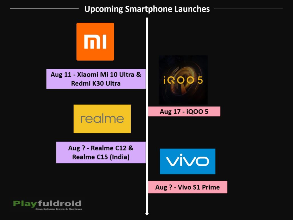 Upcoming Smartphone Launches for August