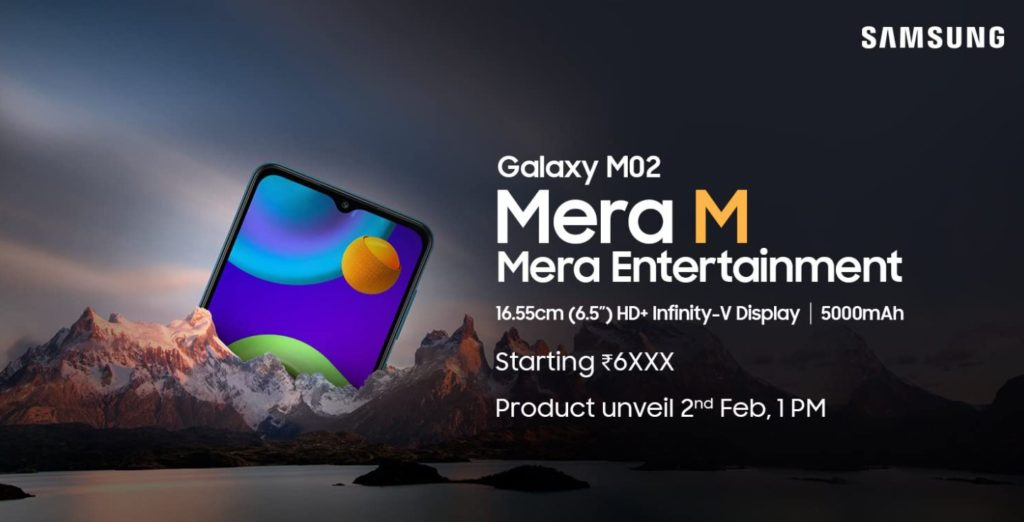 Samsung Galaxy M02 launch date