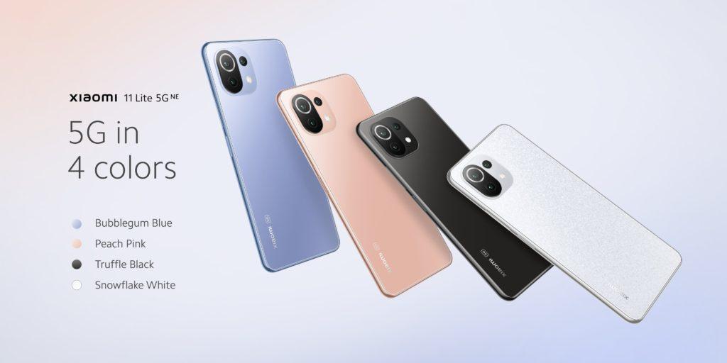 Xiaomi 11 Lite 5G NE Color Options