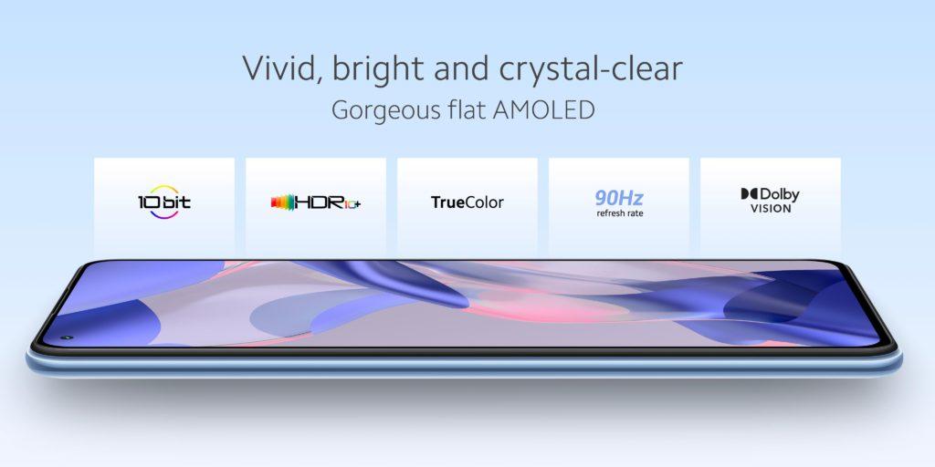 Xiaomi 11 Lite 5G NE Display Specs