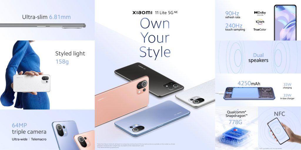 Xiaomi 11 Lite 5G NE Specs