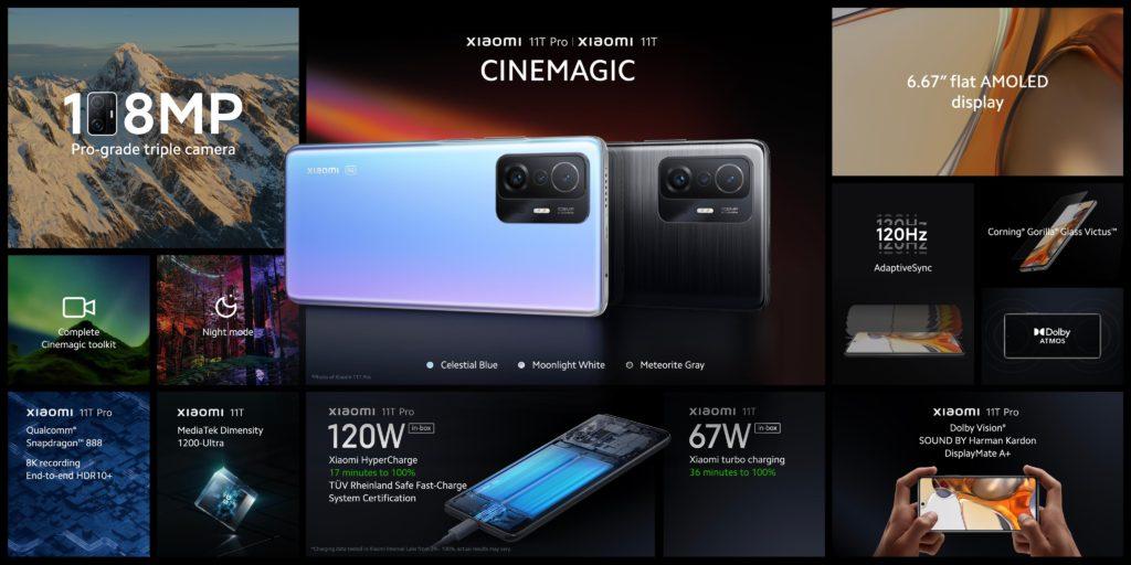 Xiaomi 11T Series Specs