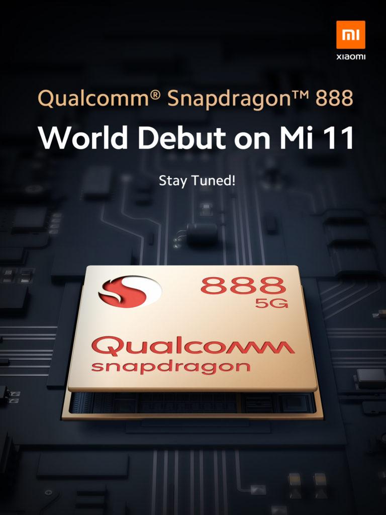 Xiaomi Mi 11 Snapdragon 888 SoC