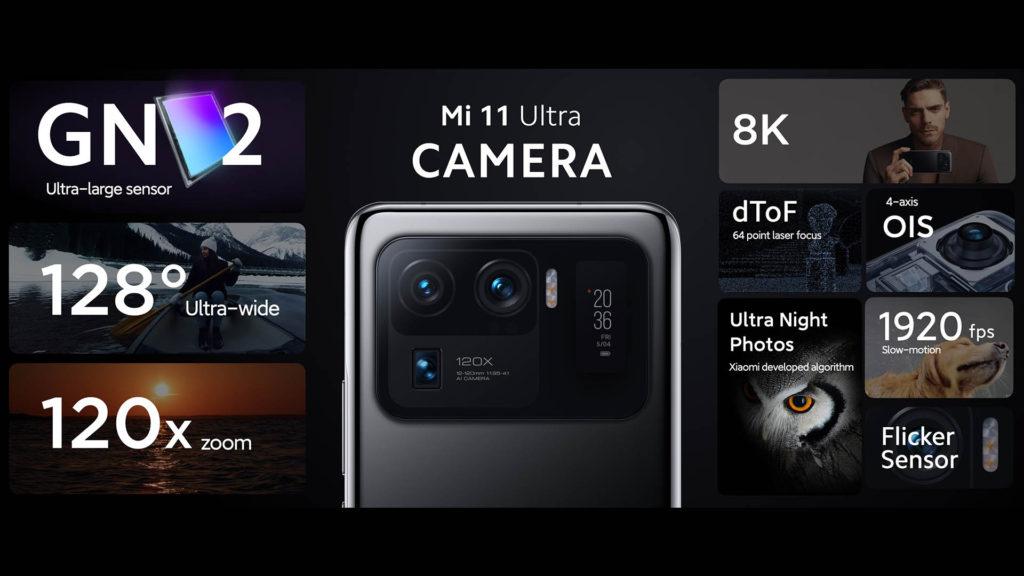 Xiaomi Mi 11 Ultra Camera Specs Samsung GN2