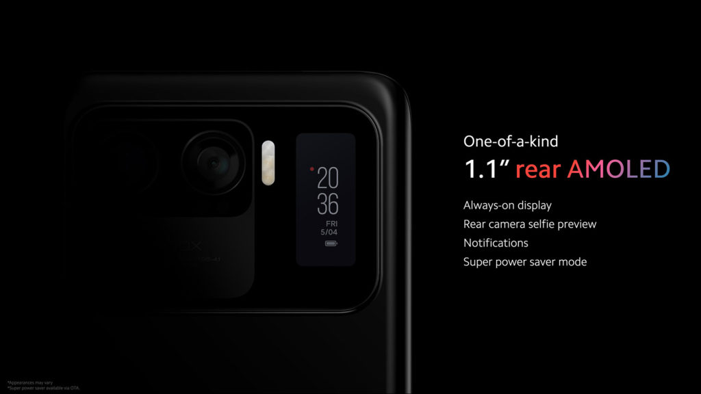 Xiaomi Mi 11 Ultra Secondary Display