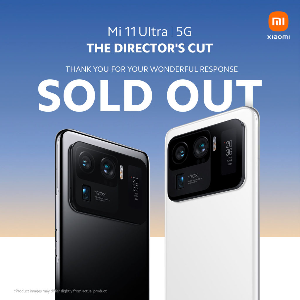 Xiaomi Mi 11 Ultra Sold Out in Malaysia