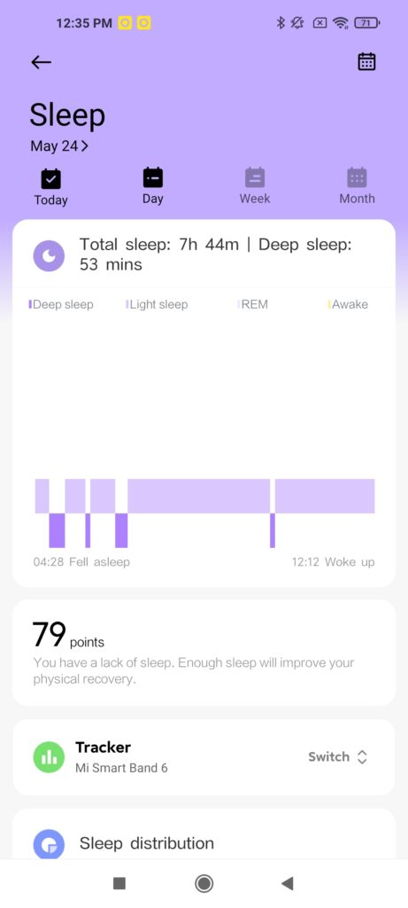 Xiaomi Wear App Sleep Monitoring -2