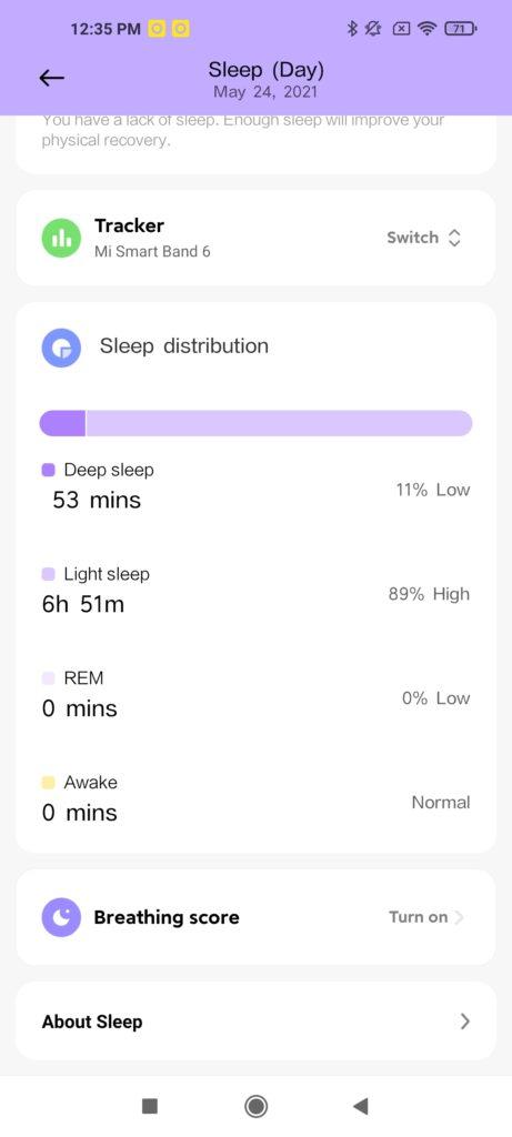 Xiaomi Wear App Sleep Monitoring -3