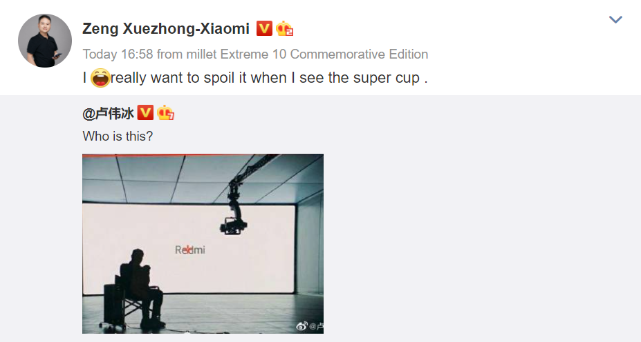 Xiaomi's President for Mobile Division Zeng Xuezhong and Redmi General Manager Lu Weibing have started teasing the arrival of a new smartphone in China. It can be said on the basis of recent reports that the company could be gearing up to announce the Redmi K30S. A tipster had recently claimed that the Redmi K30S will go official on Nov. 1 Xuezhong's Weibo post suggests that the company is gearing up to launch a flagship phone. It is believed that the Xiaomi Mi 10T flagship phone that recently went official in global markets will be breaking cover in China as the Redmi K30S. The handset has already appeared in the database of China's TENAA regulatory body with all its specifications and images. According to a tipster, the Redmi K30S launch date will be confirmed on Oct. 27 and the company will be announcing it on Nov. 1. The arrival of the phone will be timed for the Single's Day shopping festival that takes place on Nov. 11 in China each year. Another tipster has claimedv that the Redmi K30S will carry an attractive pricing.  Redmi K30S Specifications (Rumored) The Redmi K30S has a 6.67-inch IPS LCD display with punch-hole design. The 144Hz refresh rate supporting screen offers full HD+ resolution. It has a front camera of 20-megapixel and its rear side is fitted with a 64-megapixel (Sony IMX682) + 13-megapixel (ultrawide) + 5-megapixel (macro) triple camera system. The MIUI 12 based Android 10 OS comes preinstalled on the Redmi K30S. It is powered by the Snapdragon 865 mobile platform, LPDDR5 RAM, and 5,000mAh battery with 33W fast charging support. It has UFS 3.1 storage but lacks a microSD card slot. Also, the phone does not feature a 3.5mm audio jack.
