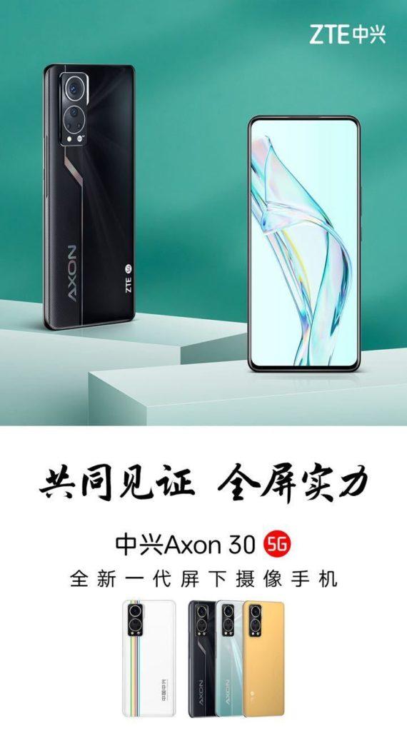 ZTE Axon 30 5G launch date poster